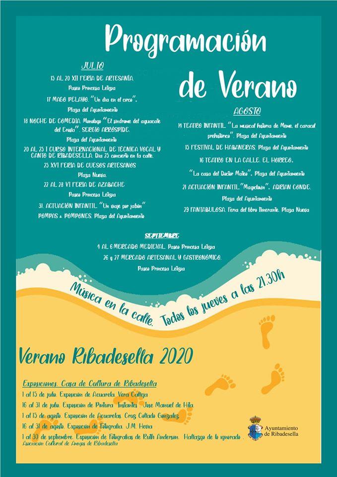 Programación de verano 2020 - Ribadesella (Asturias)