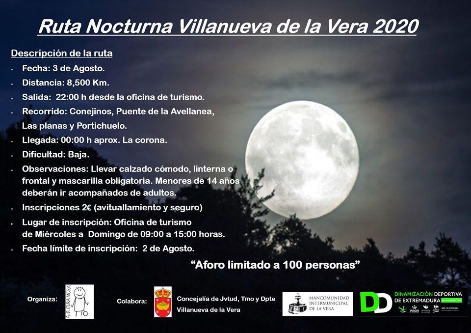 Ruta nocturna 2020 - Villanueva de la Vera (Cáceres)