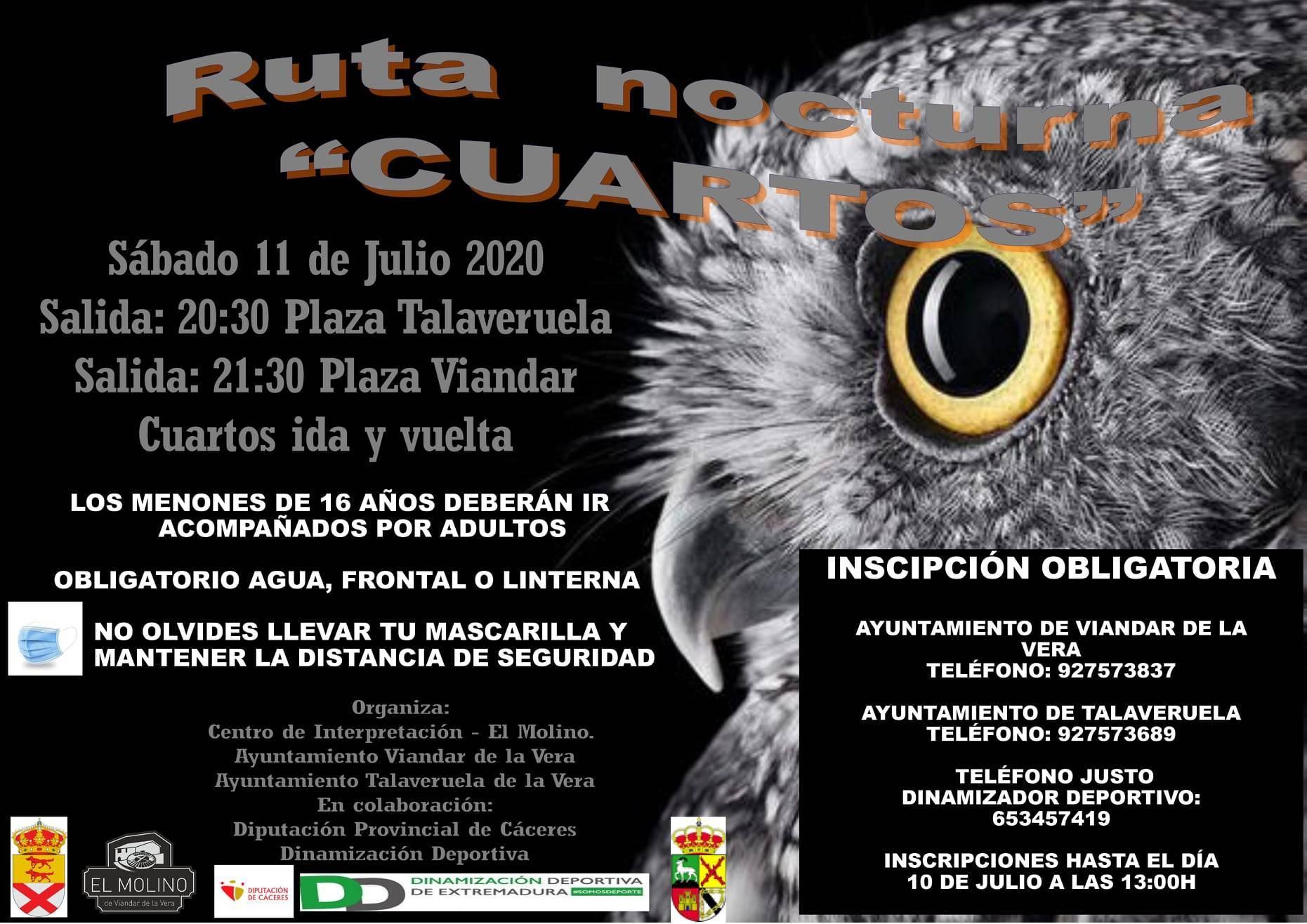 Ruta nocturna Cuartos 2020 - Talaveruela de la Vera (Cáceres) y Viandar de la Vera (Cáceres)