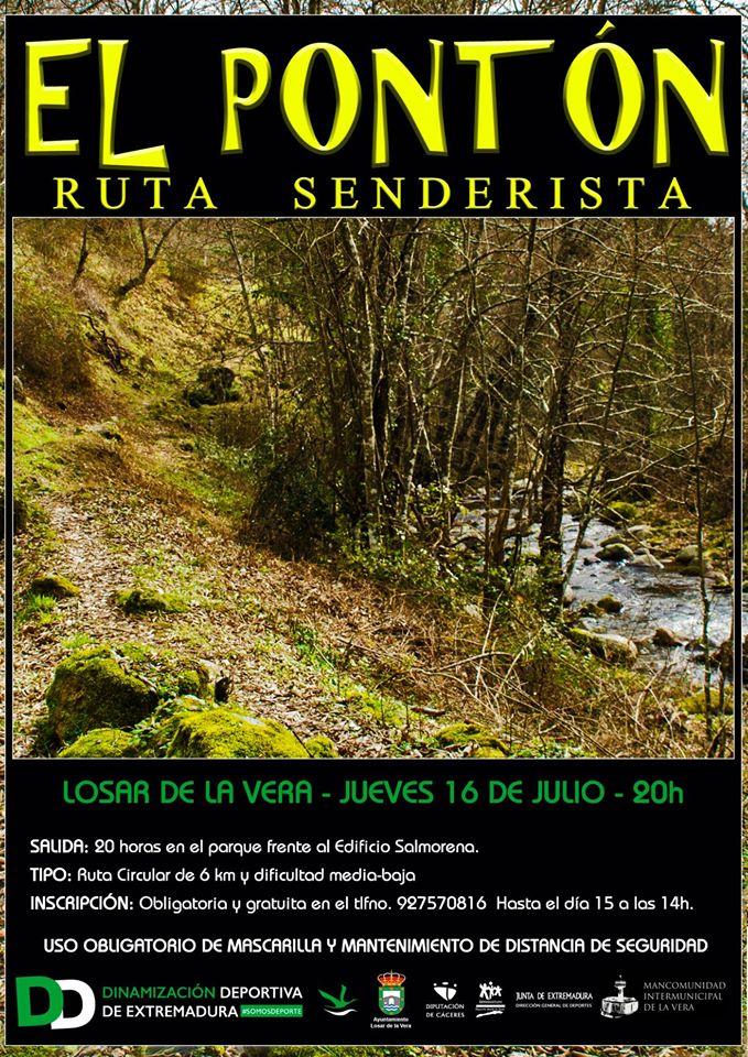 Ruta senderista El Pontón 2020 - Losar de la Vera (Cáceres)