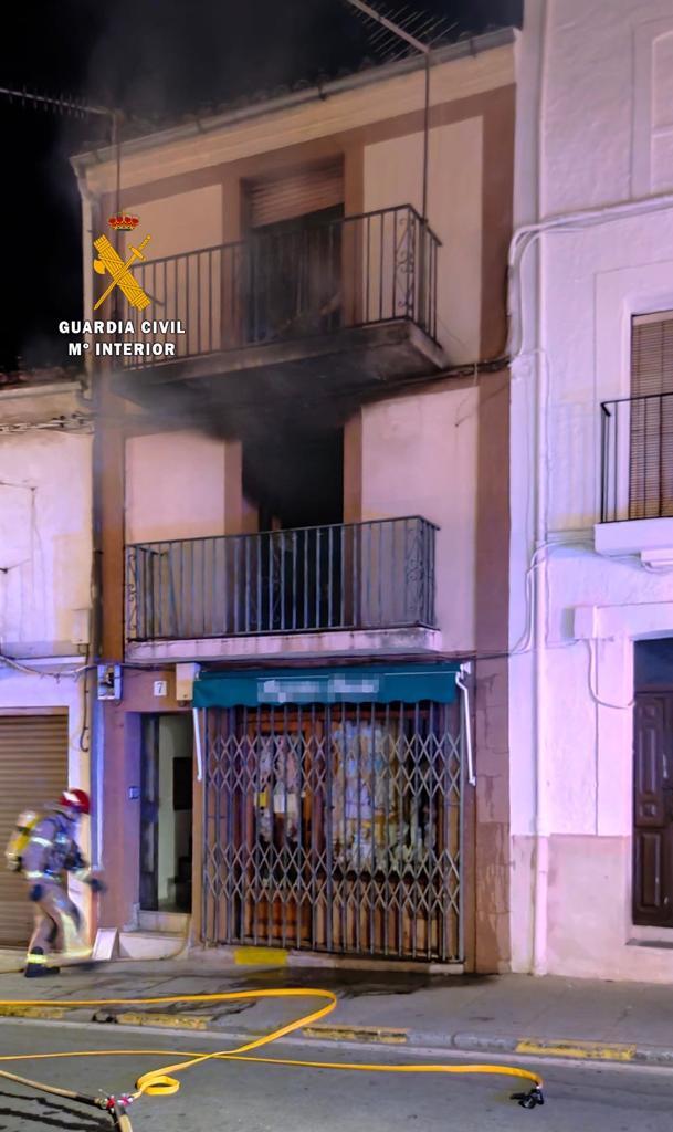 Se incendia una vivienda julio 2020 - Guadalupe (Cáceres) 1