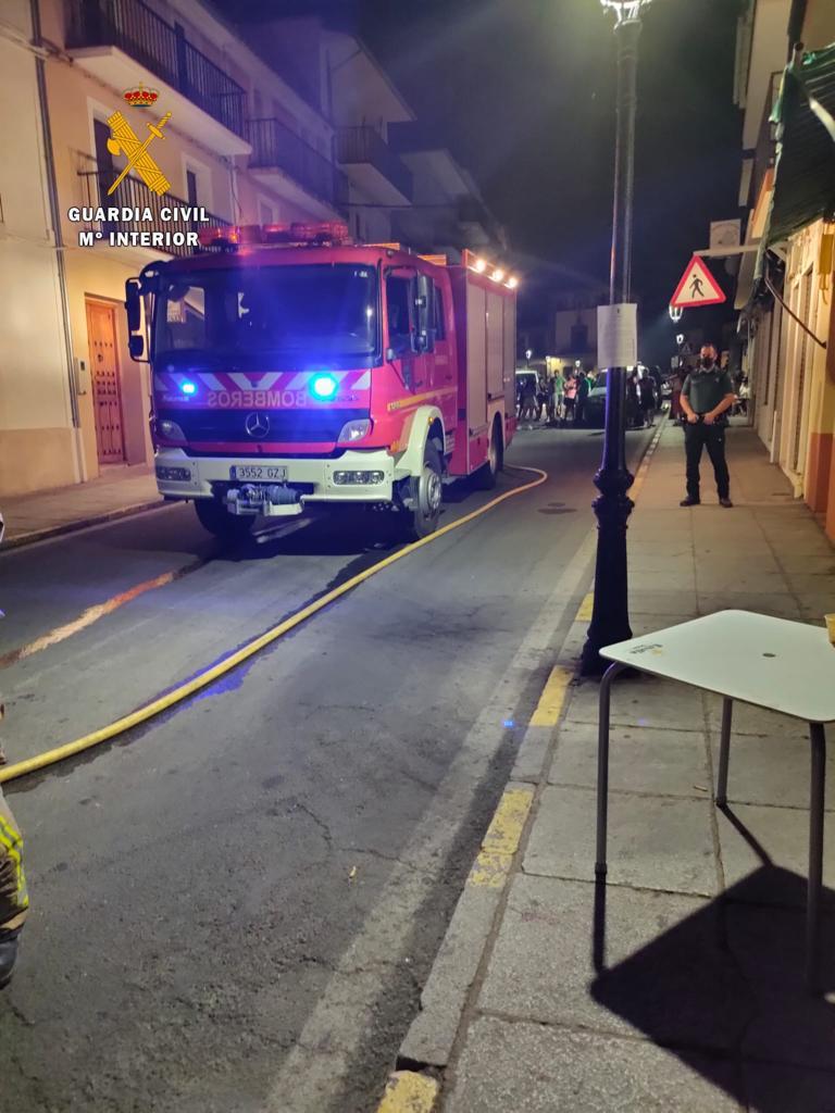 Se incendia una vivienda julio 2020 - Guadalupe (Cáceres) 2