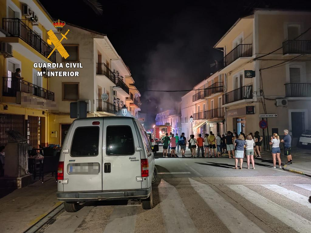 Se incendia una vivienda julio 2020 - Guadalupe (Cáceres) 3