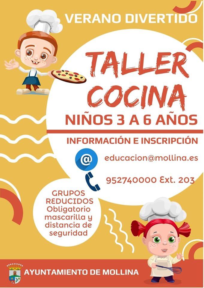 Taller de cocina de verano 2020 - Mollina (Málaga)