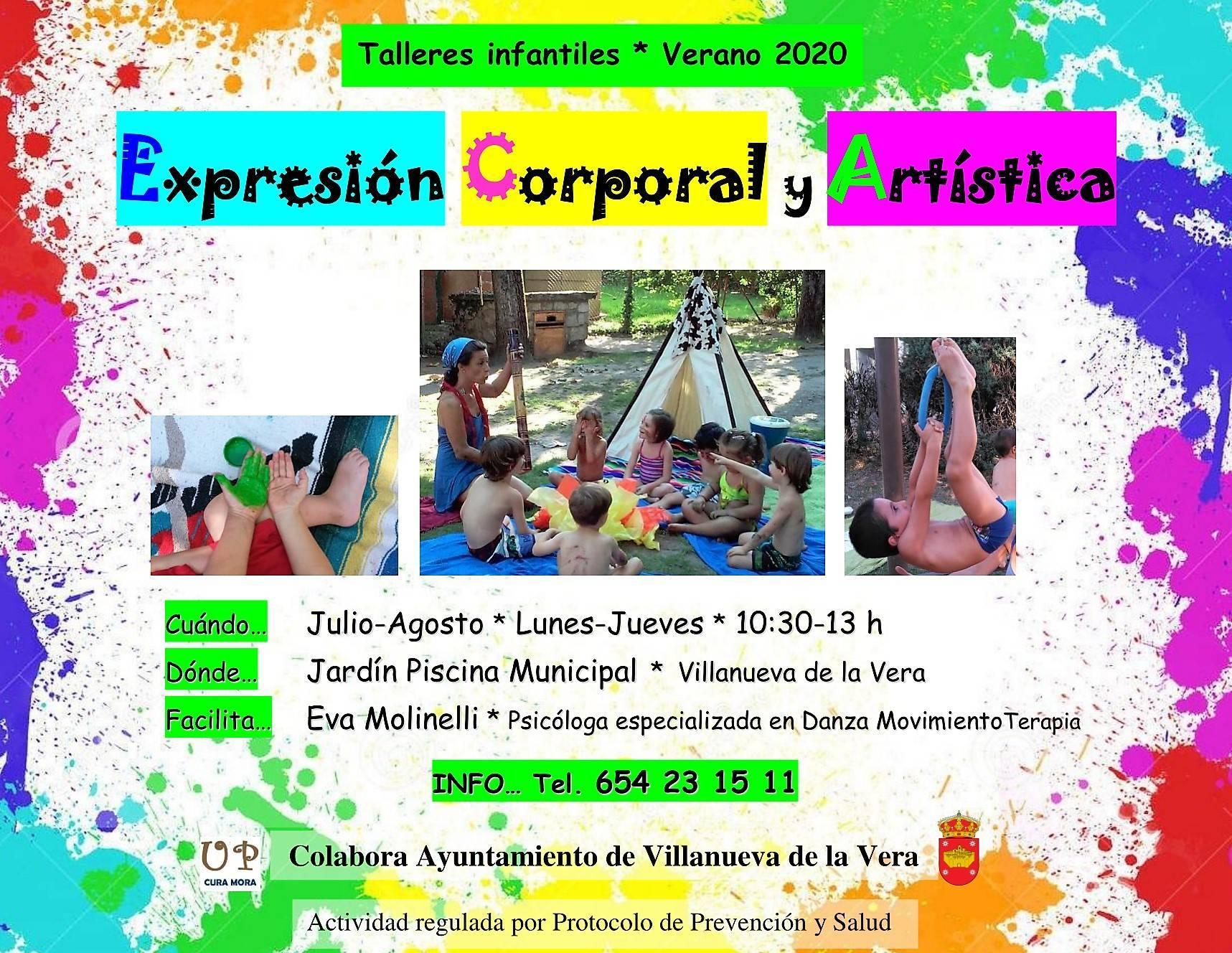 Taller de expresión corporal y artística 2020 - Villanueva de la Vera (Cáceres)