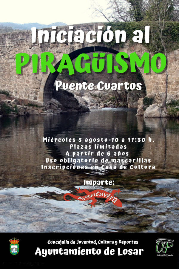 Taller de iniciación al piragüismo 2020 - Losar de la Vera (Cáceres)