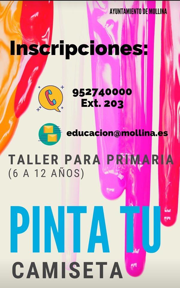 Taller: Pinta tu camiseta 2020 - Mollina (Málaga) - Cadena Silva