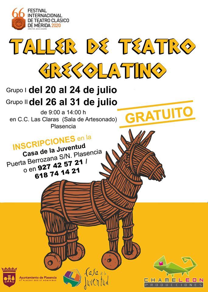 Taller de teatro grecolatino 2020 - Plasencia (Cáceres)