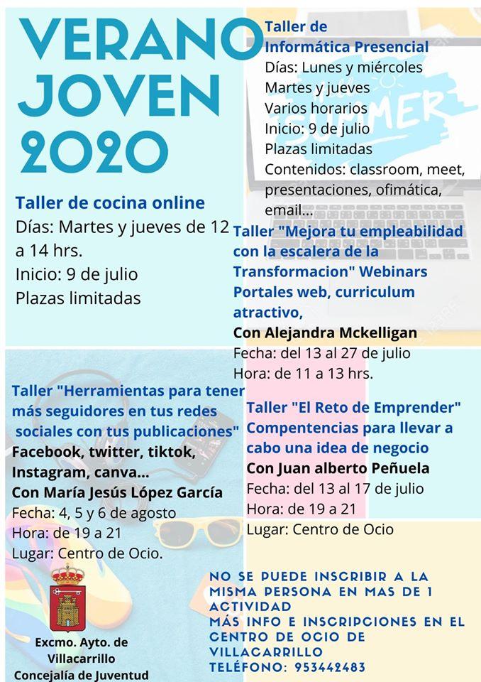 Taller de verano joven 2020 - Villacarrillo (Jaén)