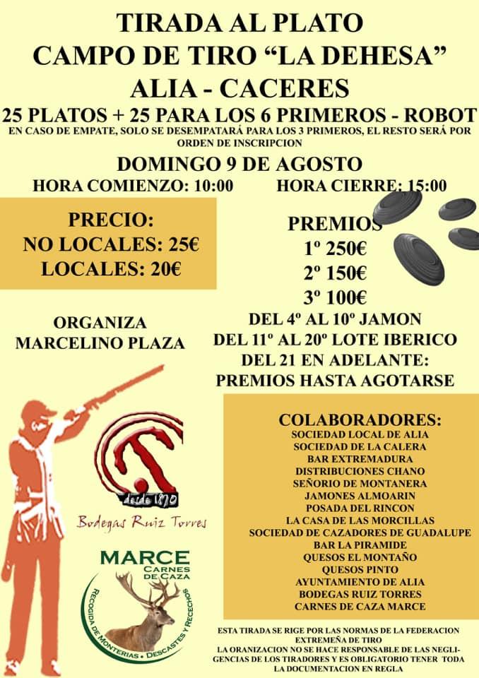 Tirada al plato agosto 2020 - Alía (Cáceres)