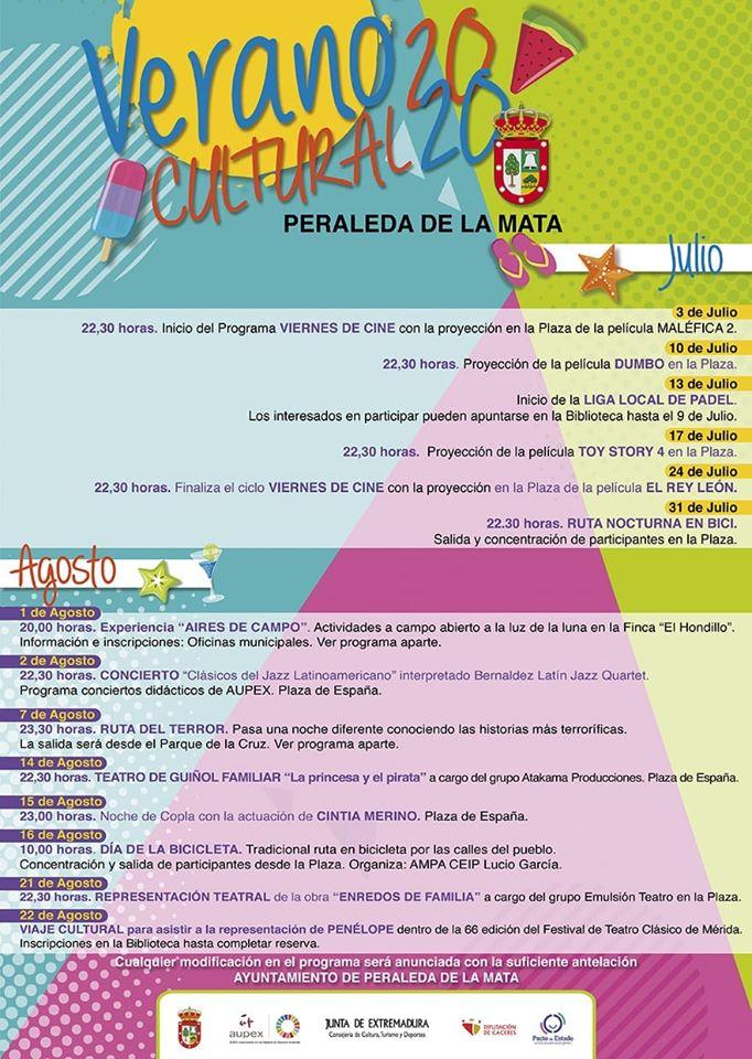 Verano cultural 2020 - Peraleda de la Mata (Cáceres)