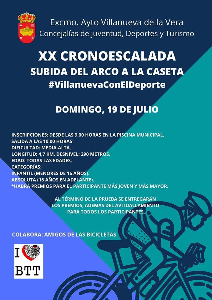XX cronoescalada - Villanueva de la Vera (Cáceres)