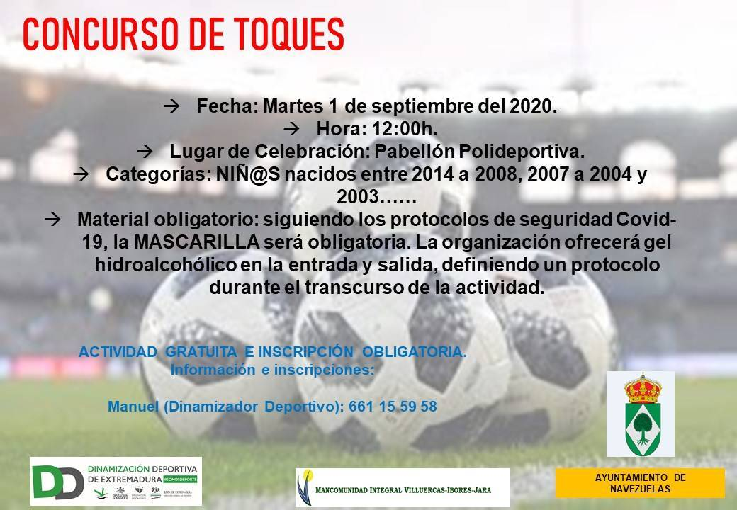 Concurso de toques (septiembre 2020) - Navezuelas (Cáceres)