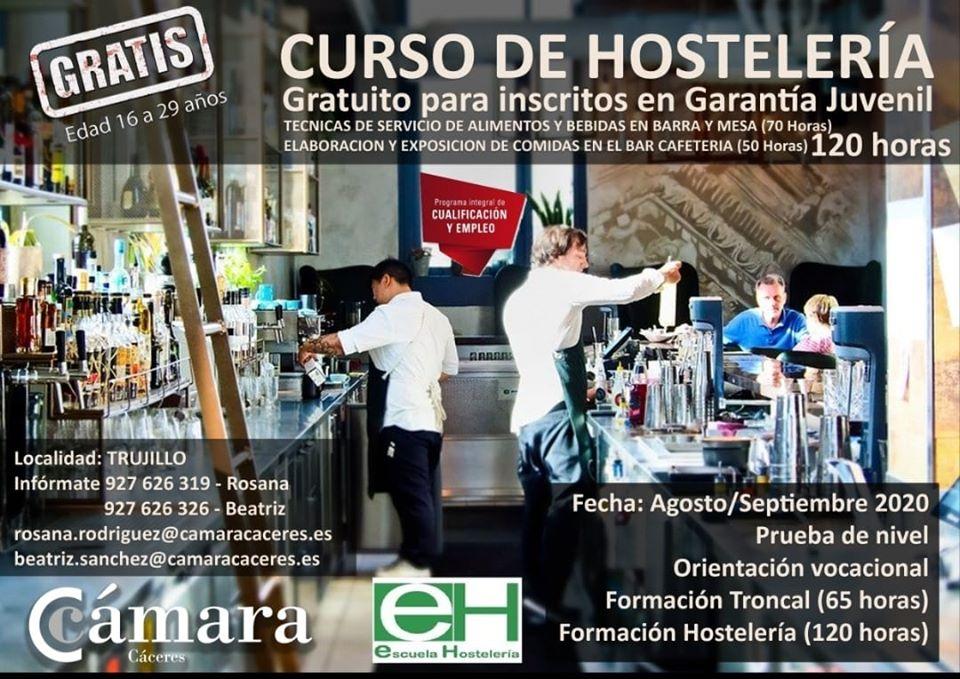 Curso de hostelería 2020 - Trujillo (Cáceres)