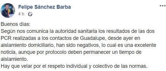 Dos negativos por coronavirus (agosto 2020) - Guadalupe (Cáceres)