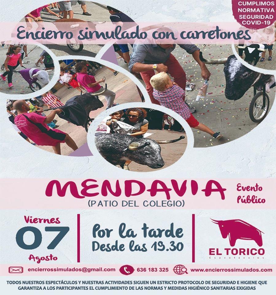 Encierro simulado con carretones 2020 - Mendavia (Navarra)