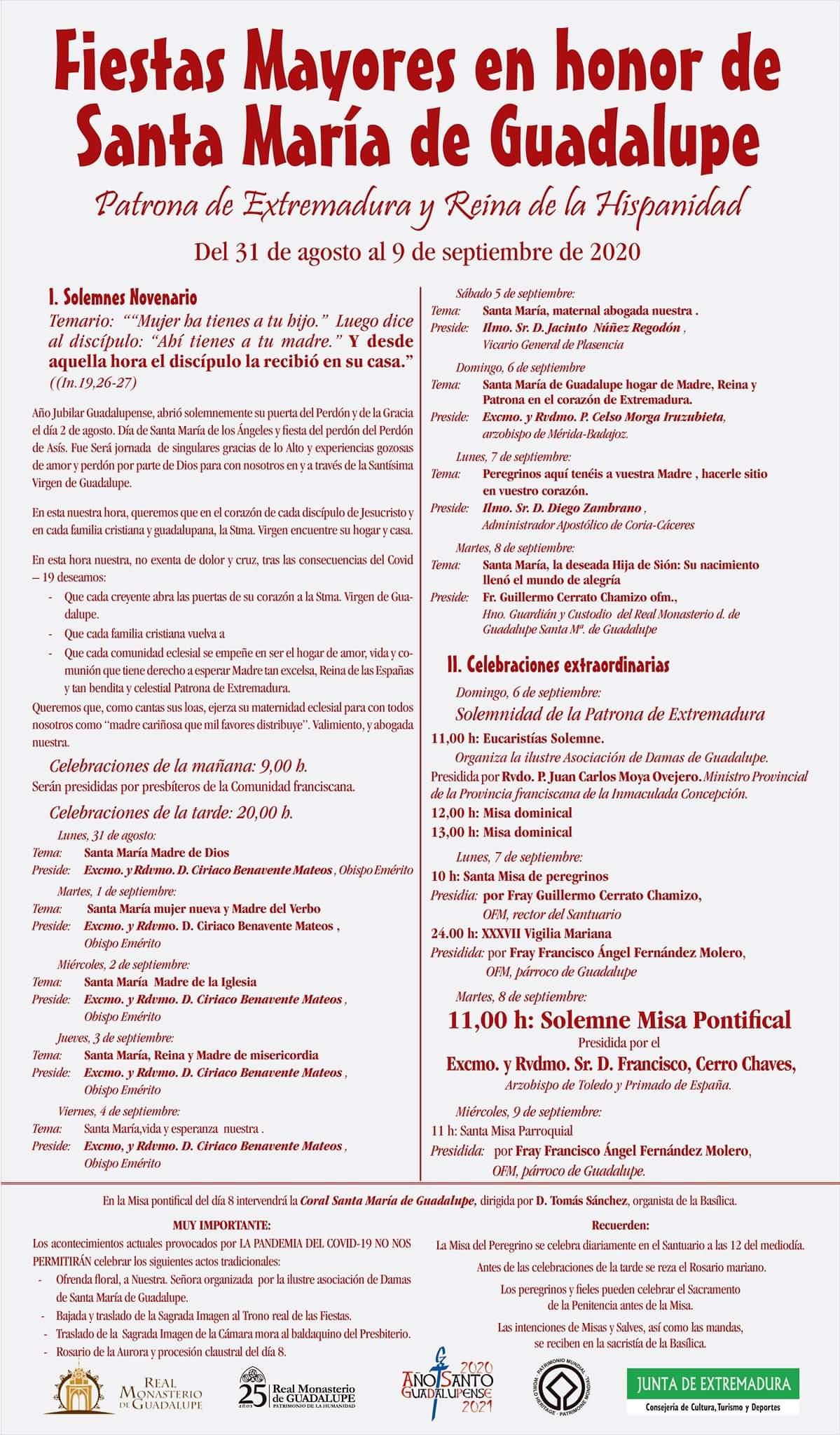 Fiestas mayores en honor de Santa María de Guadalupe (2020) - Guadalupe (Cáceres) 2