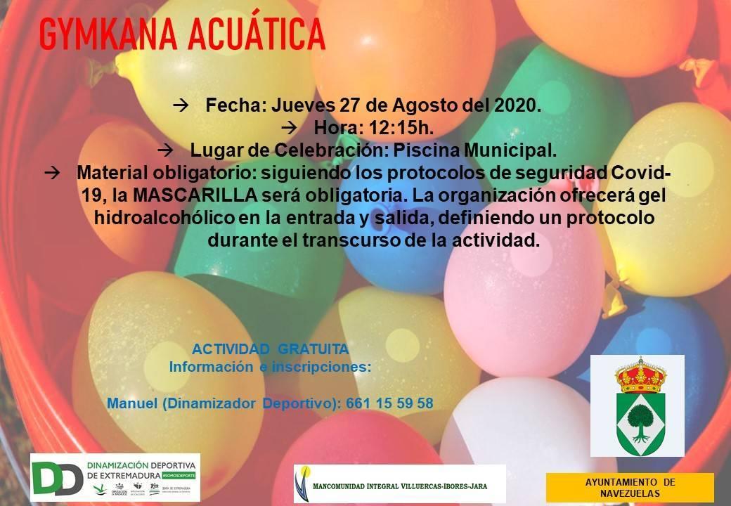 Gymkana acuática (2020) - Navezuelas (Cáceres)