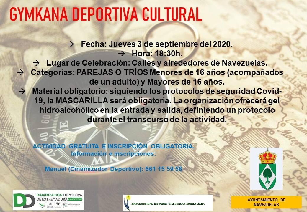 Gymkana deportiva cultural (septiembre 2020) - Navezuelas (Cáceres)