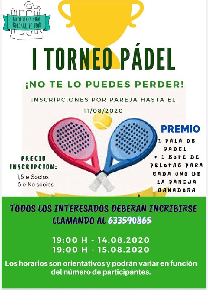 I torneo de pádel - Bohonal de Ibor (Cáceres)