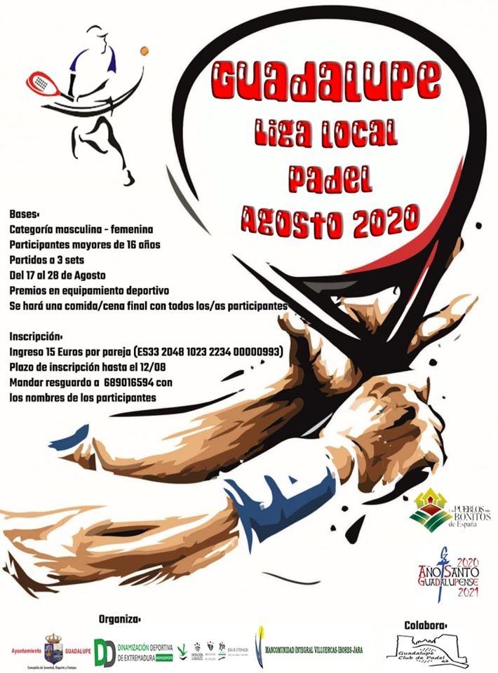 Liga local de pádel agosto 2020 - Guadalupe (Cáceres)