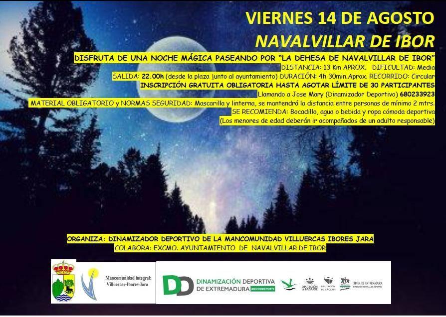 Ruta nocturna por la dehesa 2020 - Navalvillar de Ibor (Cáceres)