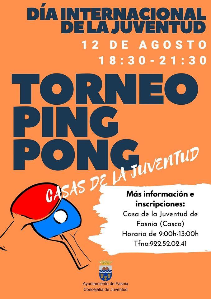 Torneo de ping-pong agosto 2020 - Fasnia (Santa Cruz de Tenerife)
