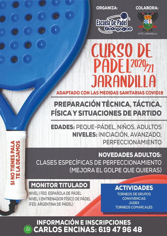Curso de pádel (2020-2021) - Jarandilla de la Vera (Cáceres)