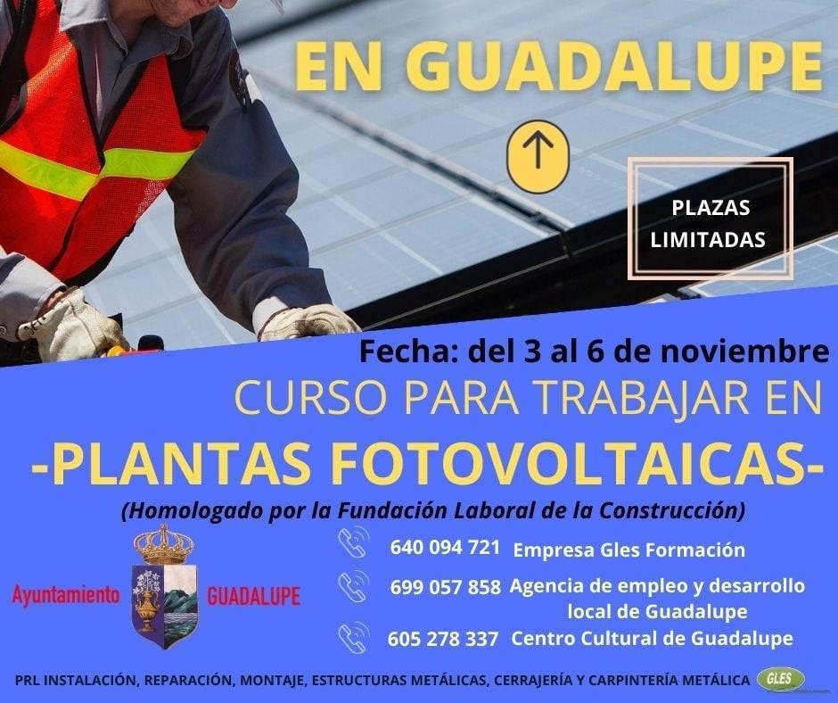 Curso de plantas fotovoltaicas (2020) - Guadalupe (Cáceres)