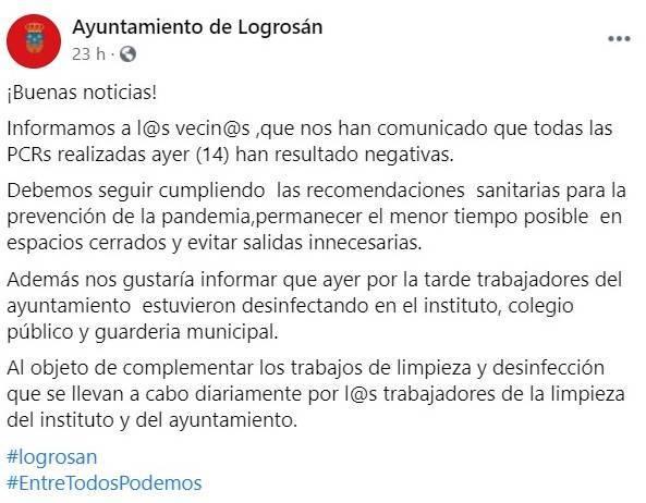 48 casos negativos de COVID-19 (noviembre 2020) - Logrosán (Cáceres) 2