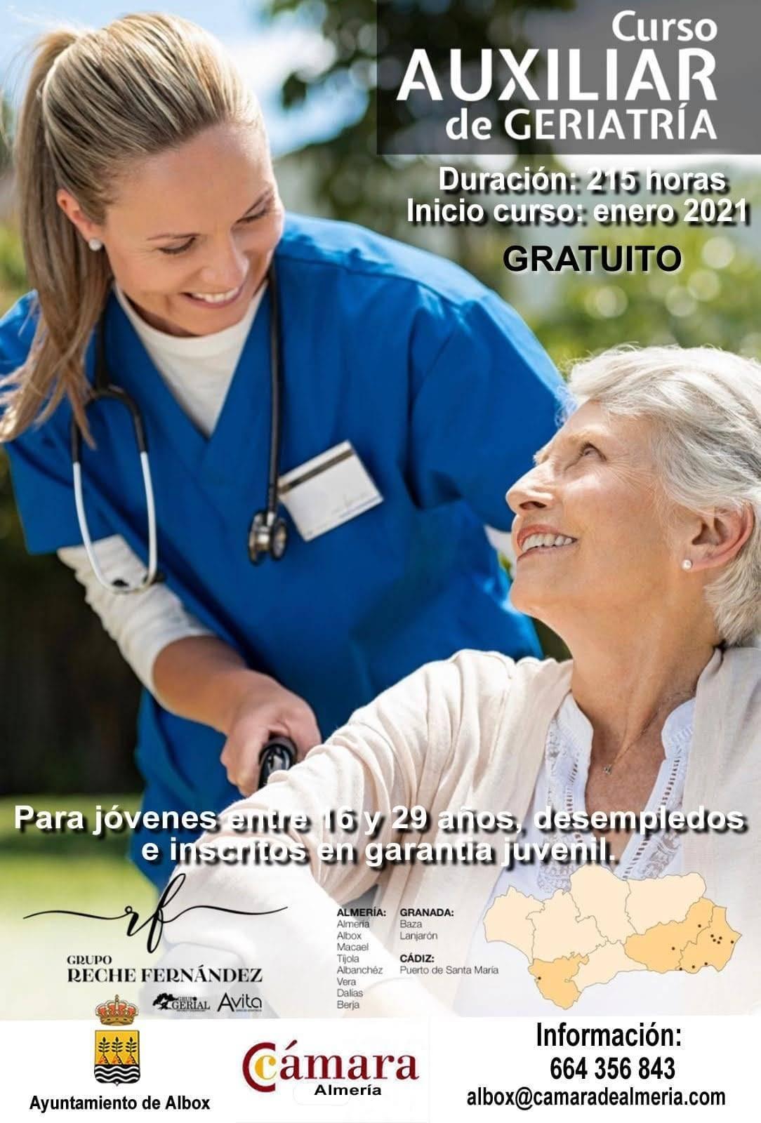 Curso de auxiliar de geriatría (2021) - Albox (Almería)