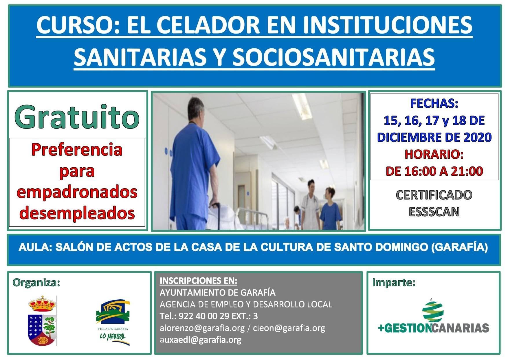 Curso de celador en instituciones sanitarias y sociosanitarias (2020) - Garafía (Santa Cruz de Tenerife)