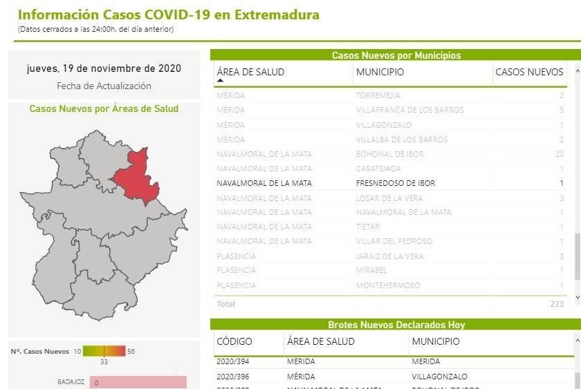 Dos nuevos casos positivos de COVID-19 (noviembre 2020) - Fresnedoso de Ibor (Cáceres) 2