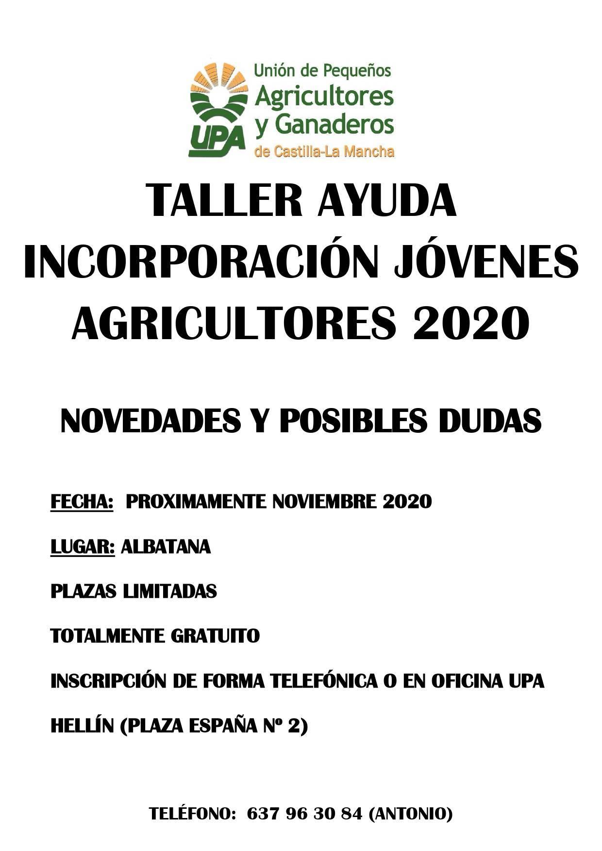 Taller para la incorporación de jóvenes agricultores (2020) - Albatana (Albacete)