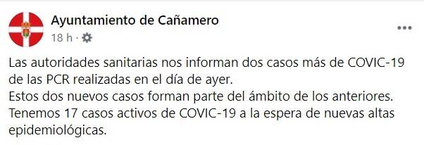 2 nuevos positivos y 22 nuevas altas de COVID-19 (diciembre 2020) - Cañamero (Cáceres) 2