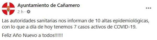 2 nuevos positivos y 22 nuevas altas de COVID-19 (diciembre 2020) - Cañamero (Cáceres) 3