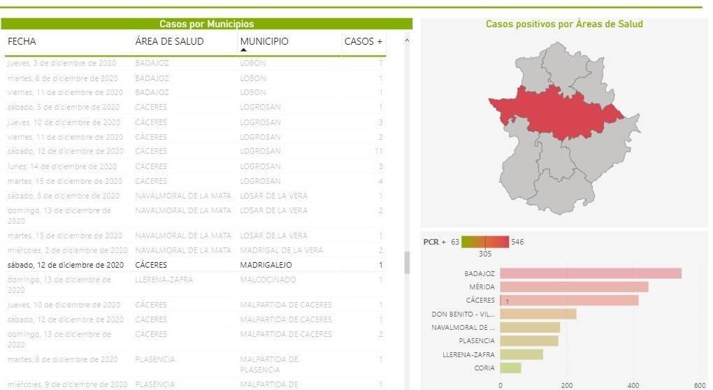 3 casos positivos de COVID-19 (diciembre 2020) - Madrigalejo (Cáceres) 1