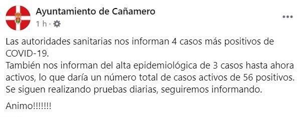 6 nuevos casos positivos y 12 altas de COVID-19 (diciembre 2020) - Cañamero (Cáceres) 2