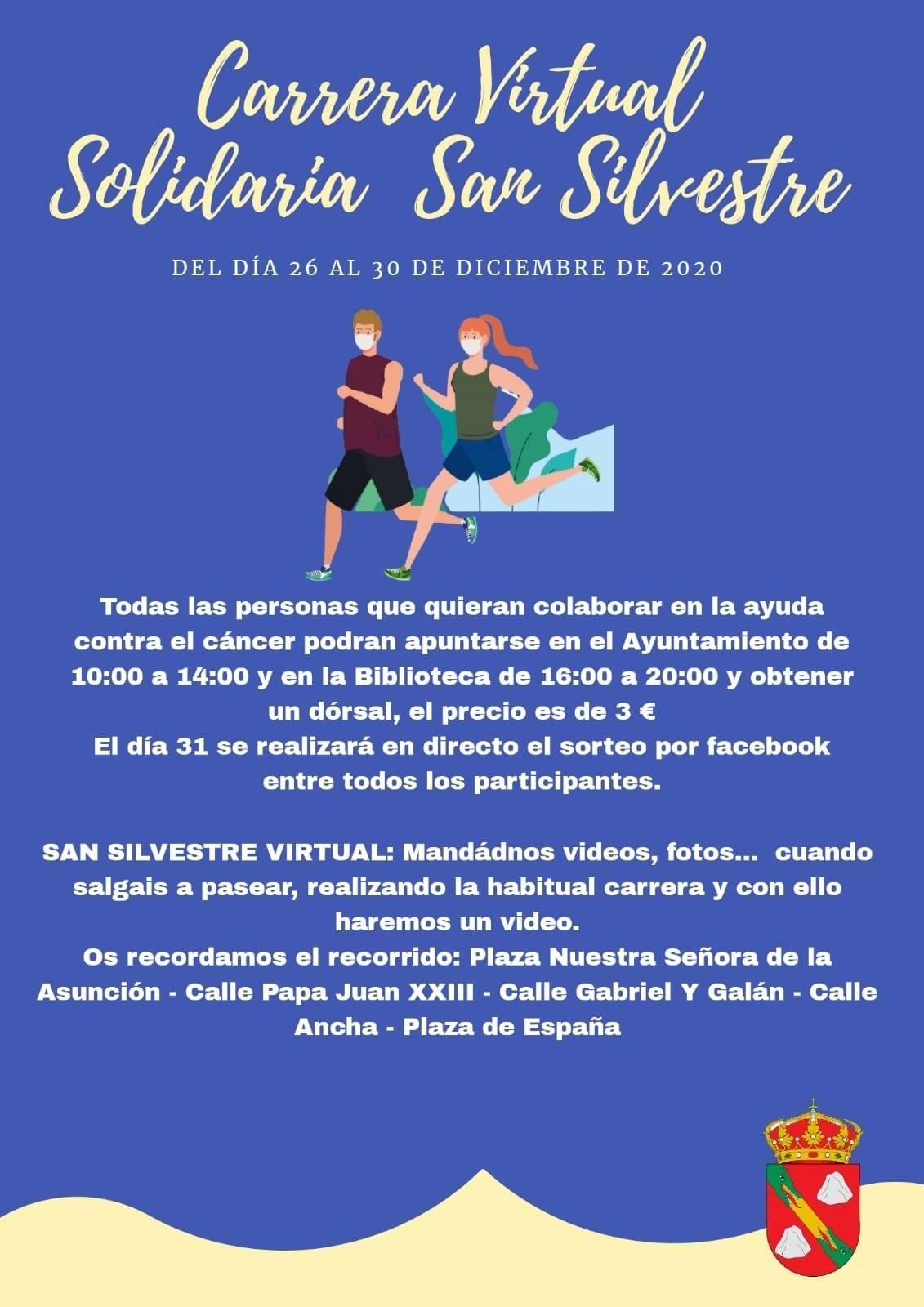 Carrera virtual solidaria San Silvestre (2020) - La Cumbre (Cáceres)