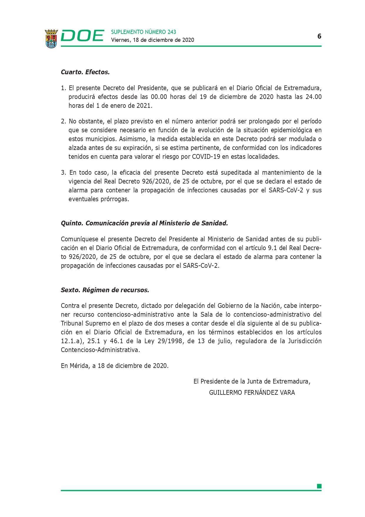 Cierre perimetral por COVID-19 (2020) - Talayuela (Cáceres), Logrosán (Cáceres) y Cañamero (Cáceres) 6