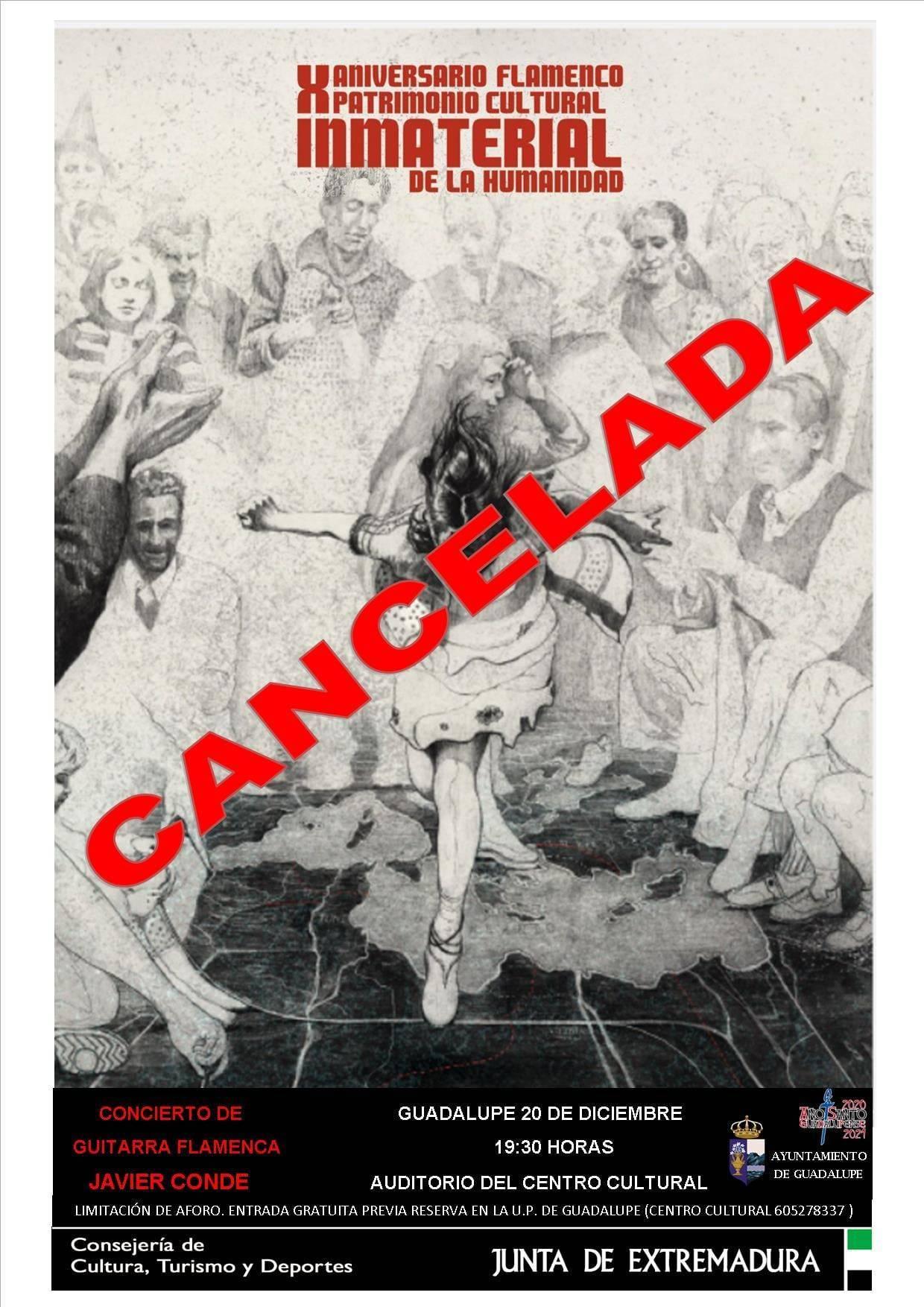 Concierto de guitarra flamenca (2020) - Guadalupe (Cáceres) Suspendido