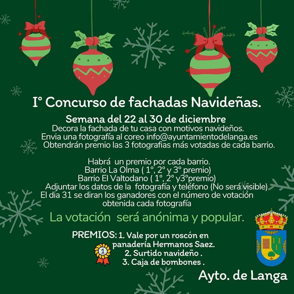 I concurso de fachadas navideñas - Langa (Ávila)