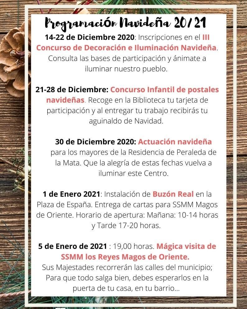 Programación navideña (2020-2021) - Peraleda de la Mata (Cáceres)