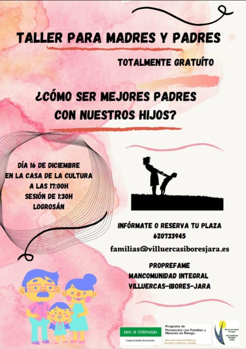 Taller para madres y padres (2020) - Logrosán (Cáceres)