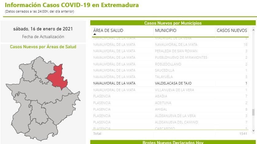 10 nuevos casos positivos de COVID-19 (enero 2021) - Valdelacasa de Tajo (Cáceres) 1