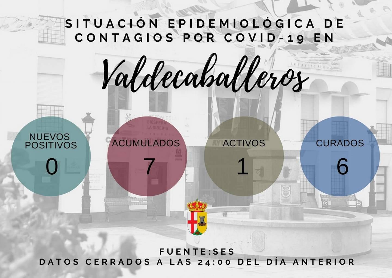 2 nuevas altas de COVID-19 (enero 2021) - Valdecaballeros (Badajoz)