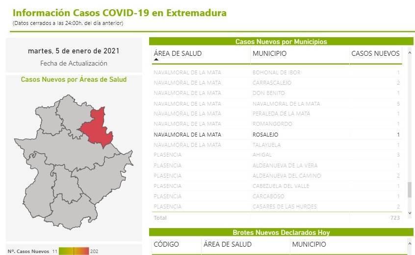 4 nuevos casos positivos de COVID-19 (enero 2021) - Rosalejo (Cáceres) 2
