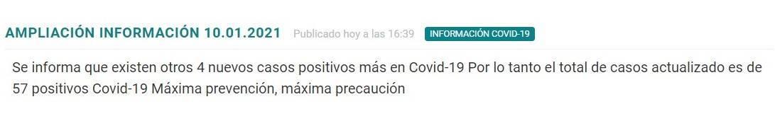 57 casos positivos y cierre perimetral por COVID-19 (enero 2021) - Madrigalejo (Cáceres) 1