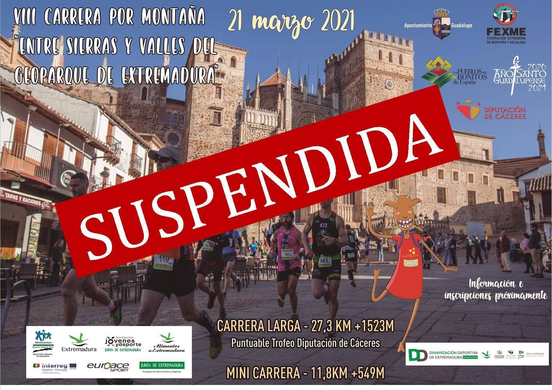 Suspendida la VIII carrera por montaña Entre sierras y valles del Geoparque de Extremadura - Guadalupe (Cáceres)