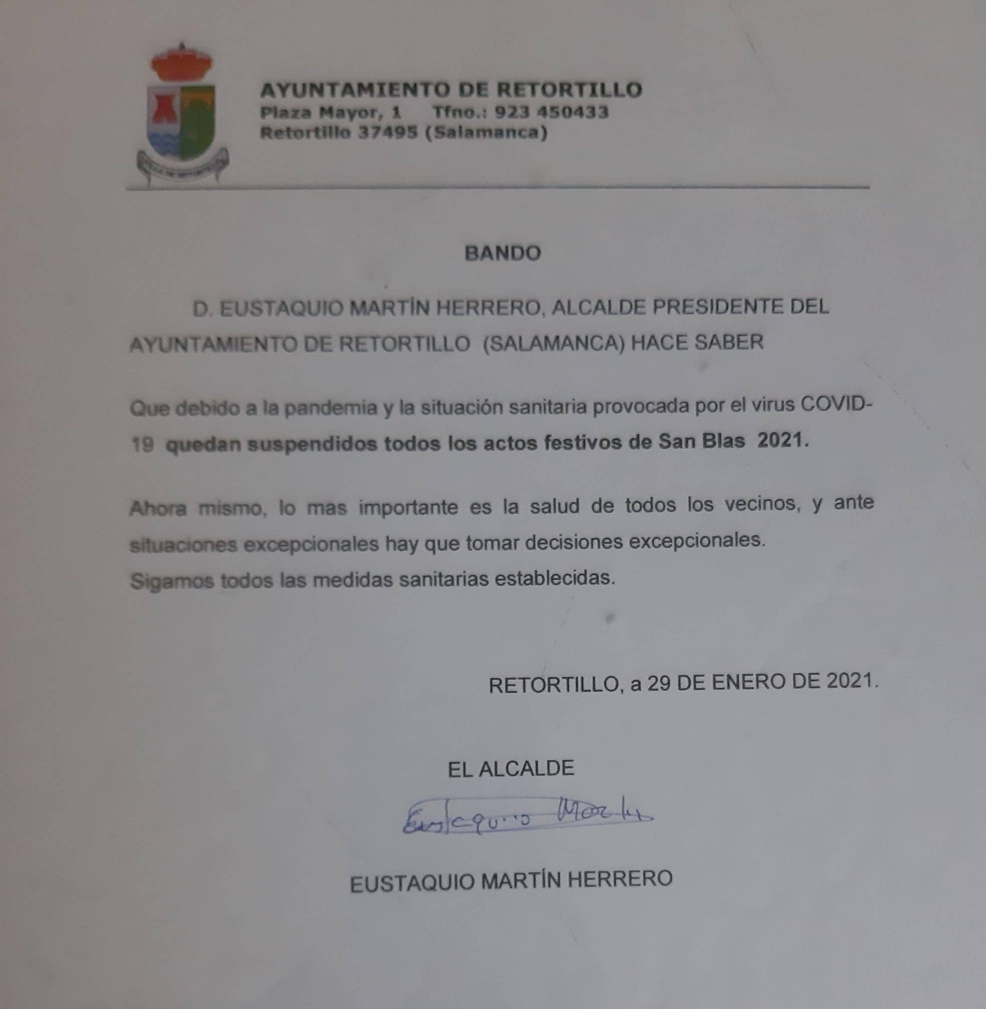 Suspendido San Blas (2021) - Retortillo (Salamanca)